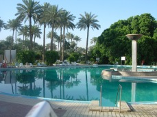 A view of the pool at CPA Headquarters/American embassy. Spring or Summer 2004.